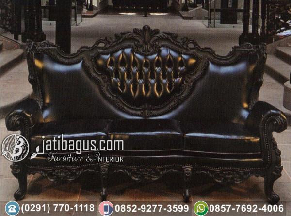 Kursi Sofa Black Baroque Tiga Dudukan