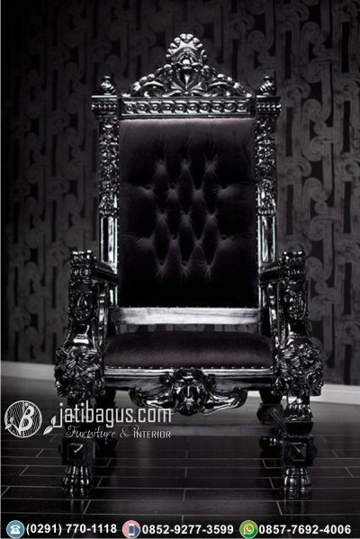 Kursi Sofa Tunggal Baroque Black