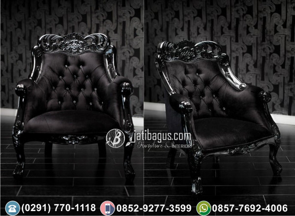 Kursi Sofa Tunggal Black Der Barock