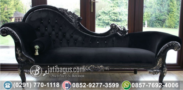Kursi Sofa Tunggal Black Diamante