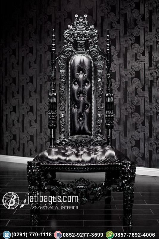 Kursi Sofa Tunggal Ukir Singa Raja