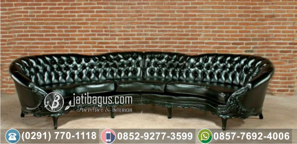 Kursi Sofa Victorian Black Mewah