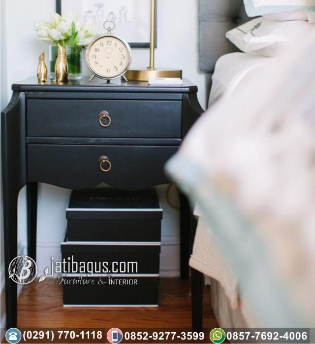 Nakas Bedside Minimalis Black Paint