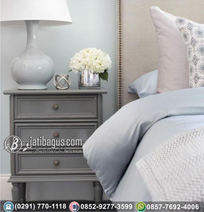 Nakas Bedside Minimalis Gray Wall