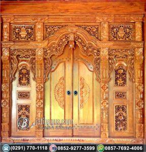 Pintu Gebyok Ukir Klasik Mewah Jati Asli
