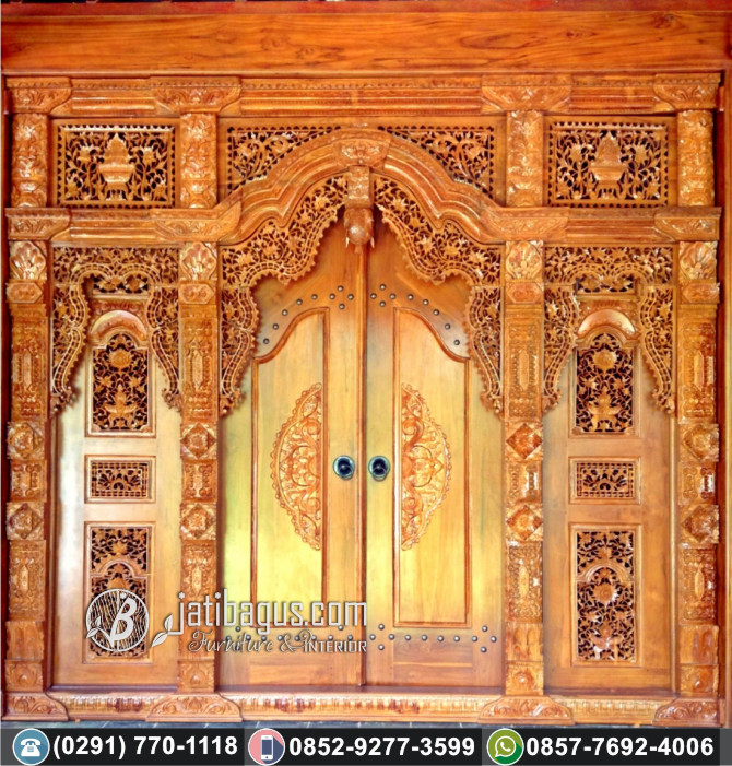 jual gebyok ukir jawa klasik mewah jati asli murah terpercaya pintu ukir unik