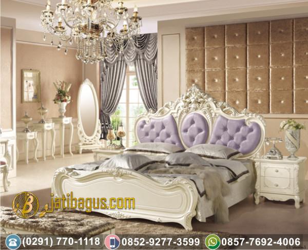 Tempat Tidur Duco Ukir Lavender