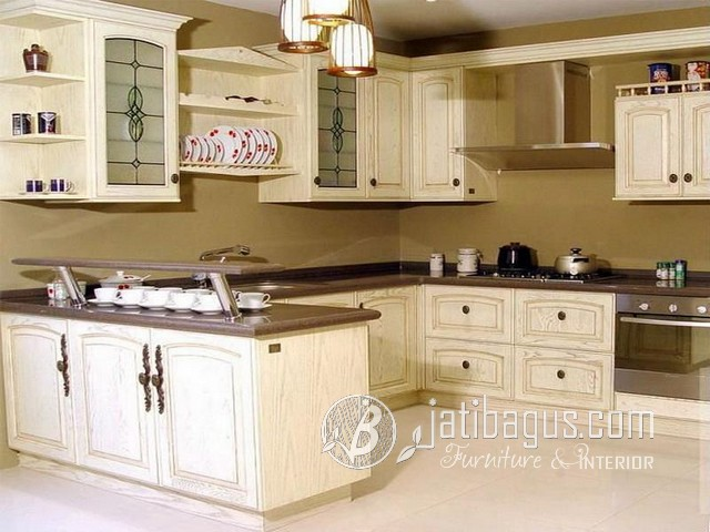 Kitchen Set Duco Minimalis Jati Natural