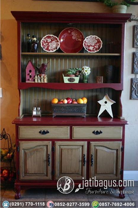 Bufet Dapur Minimalis New Merah Putih