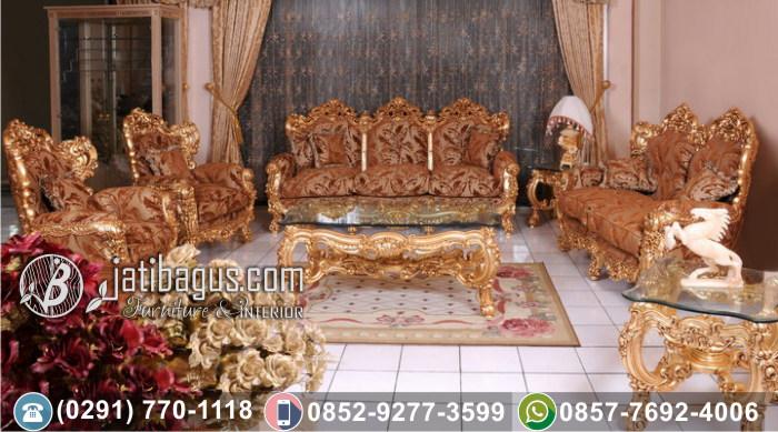 Kursi Tamu Sofa Ukir Jati Model Istana Presiden Murah