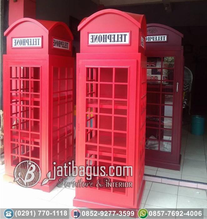 Lemari Hias Box Telefon Inggris London