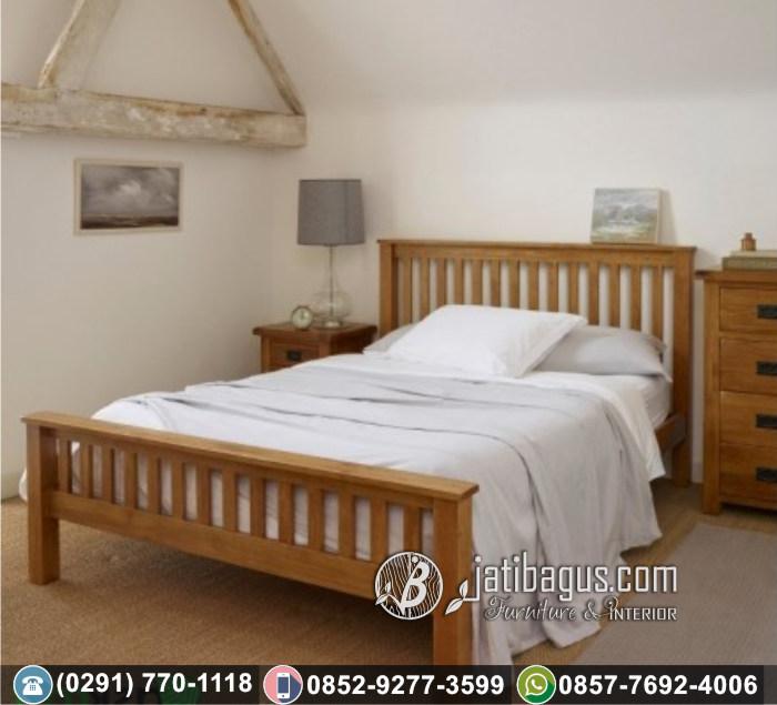Tempat Tidur Minimalis Simpel Jati Asli