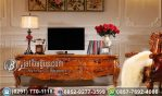Bufet Meja TV Ukir Klasik Hias Puncak Jaya