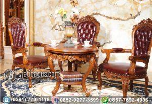 Kursi Tamu Ukir Klasik Jati Hemat Ruangan