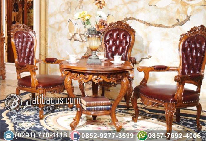 Kursi Tamu Sofa Ukir Klasik Jati Hemat Ruangan