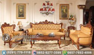 Kursi Tamu Sofa Ukir Klasik Milky Colour