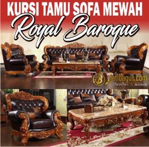 Kursi Tamu Sofa Mewah Ukir Royal Baroque