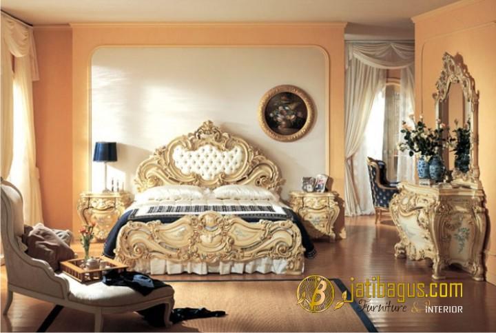Set Kamar Tidur Duco Rococo Putih
