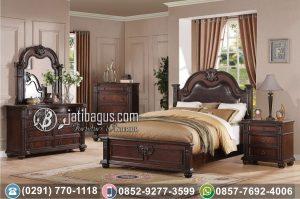 Set Tempat Tidur Ukir Klasik Jati