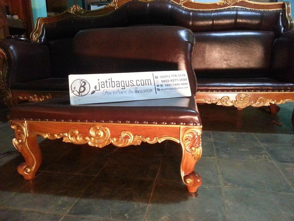 set kursi tamu sofa ukir jati asli