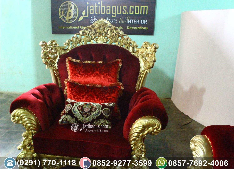 Kursi Tamu Sofa Ukir Gold Mewah
