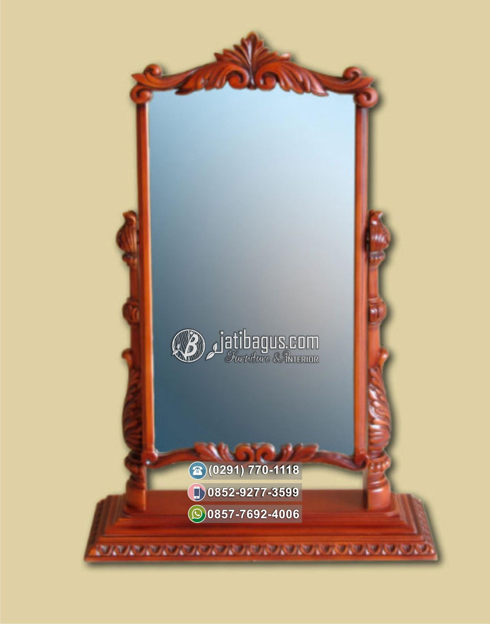 Standing Mirror Ukir Jati