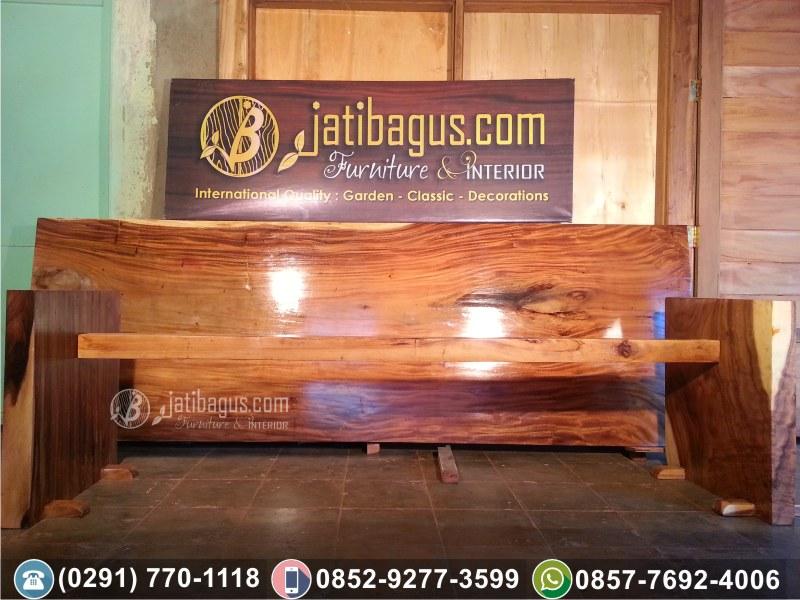 Meja Makan Trembesi Blok (Solid Wood / Kayu Meh)
