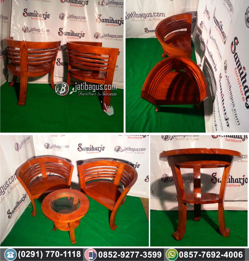 kursi teras lengkung meja bundar