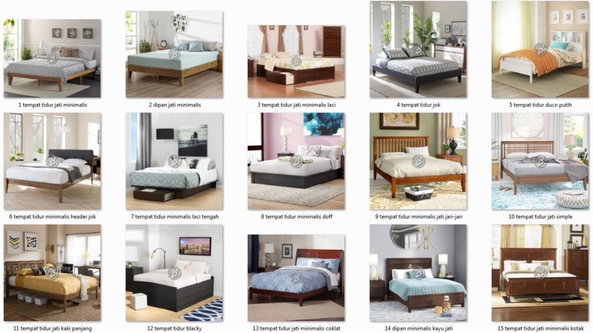 jual tempat tidur minimalis terlengkap