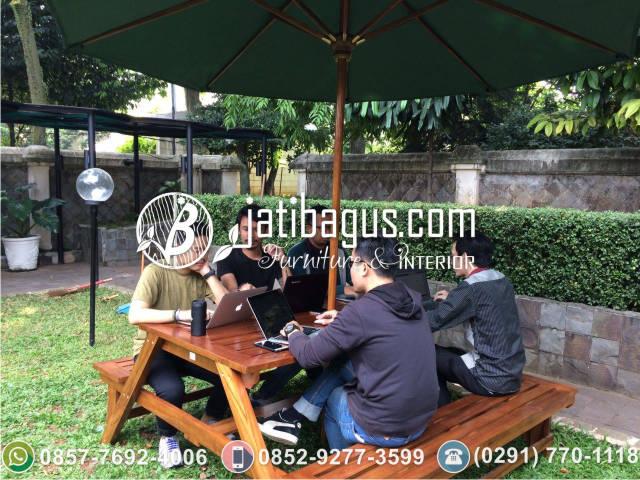 Meja Bangku Taman Payung