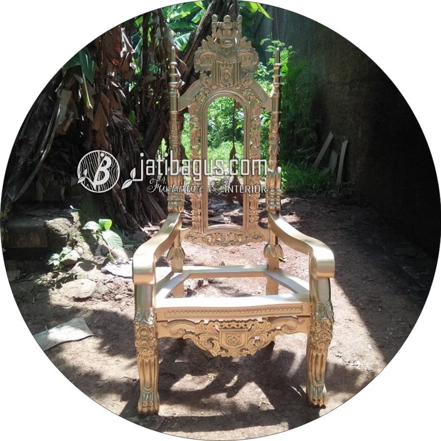Kursi Ukir Tunggal Emas Raja