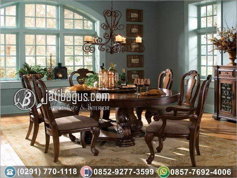 Meja Makan Ukir Putar