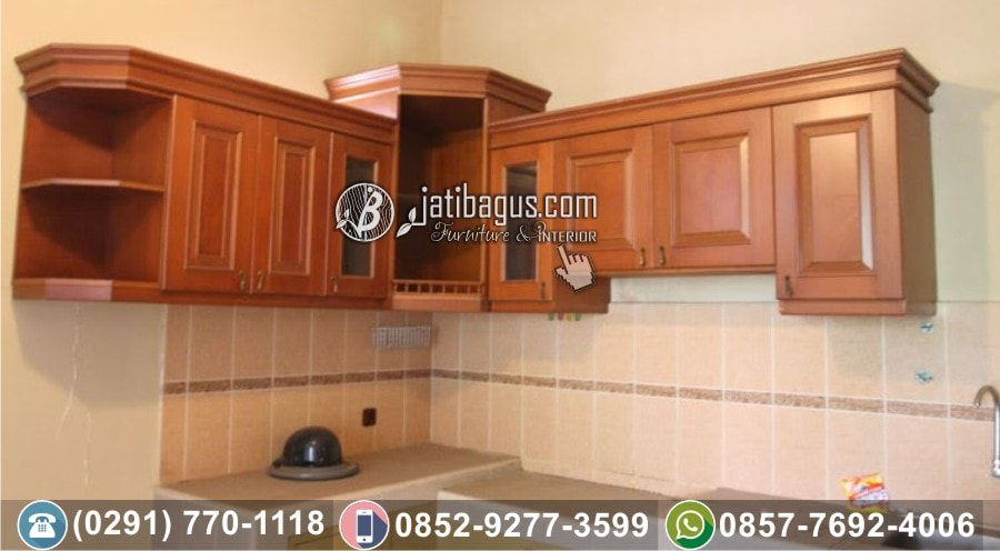 Jual Kitchen Set Minimalis Jati