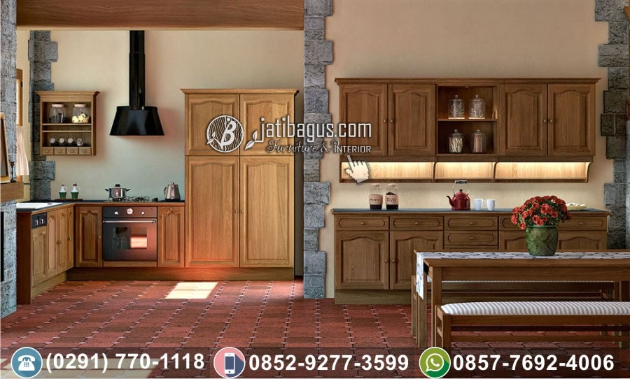 Kitchen Set Minimalis Jati Murah