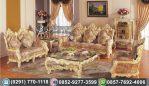Kursi Tamu Sofa Ukir Putih