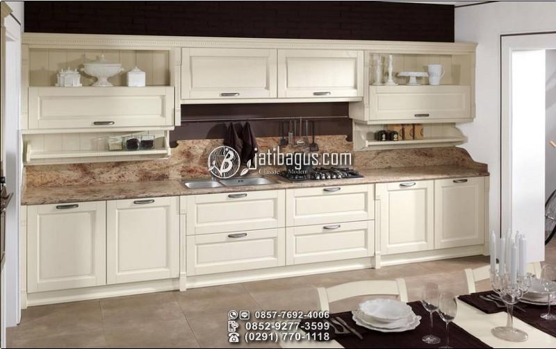 Jual Kitchen Set Minimalis Putih Kayu Mahoni Harga Murah