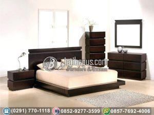 Set Tempat Tidur Minimalis Jati Box