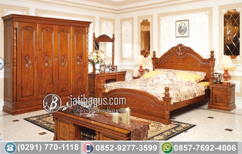 Set Tempat Tidur Ukir Jepara Kayu Jati