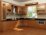 Kitchen Set Minimalis Jati Warna Coklat Natural