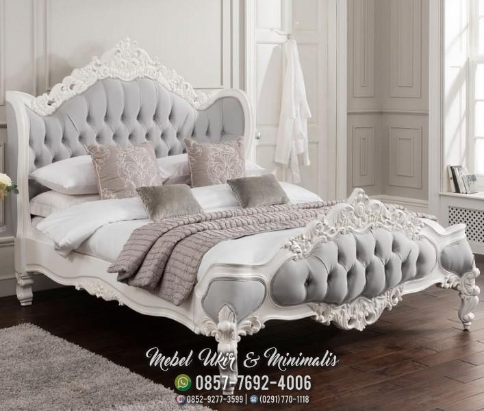 Jual set tempat tidur ukir kayu mahoni