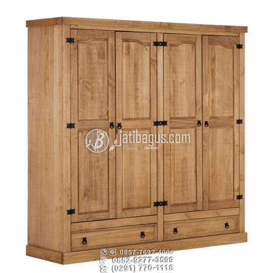Jual Lemari pakaian minimalis kayu jati