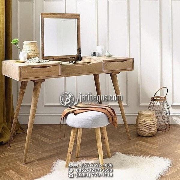 meja rias kayu jati harga murah