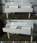 Meja Rias Minimalis Warna Duco Putih
