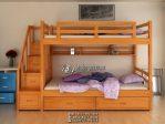 Tempat Tidur Anak Tingkat Minimalis Kayu Solid