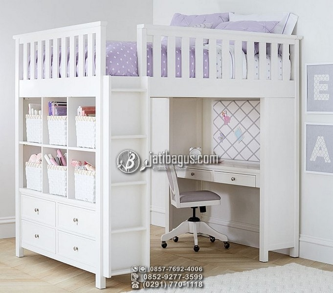 jual tempat tidur tingkat minimalis kayu jati