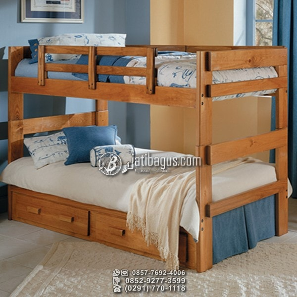 Jual Tempat Tidur Minimalis Tingkat Kayu Solid Murah
