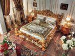 Tempat Tidur Ukir Mewah Emas Kayu Jati