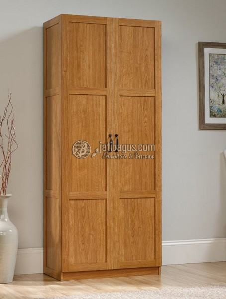 Lemari Pakaian Minimalis Modern Pintu 2 Kayu Jati