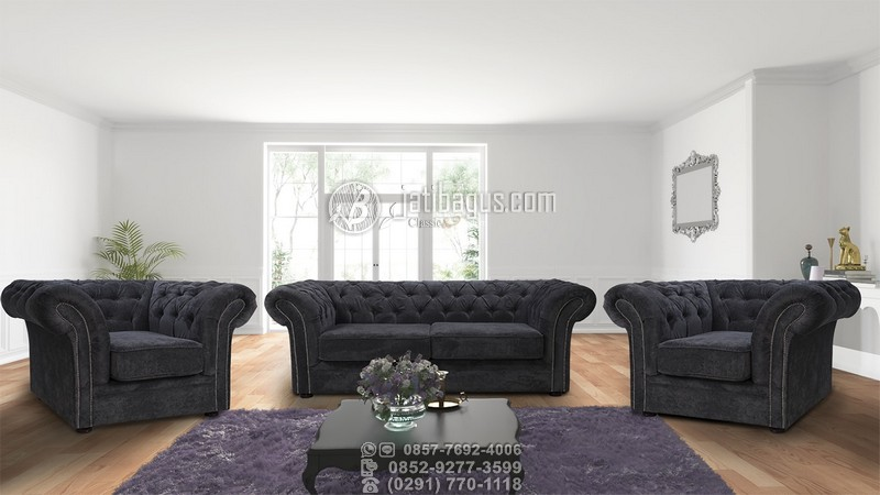 Jual Set Kursi Tamu Sofa Minimalis Jok Busa Kayu Jati Murah