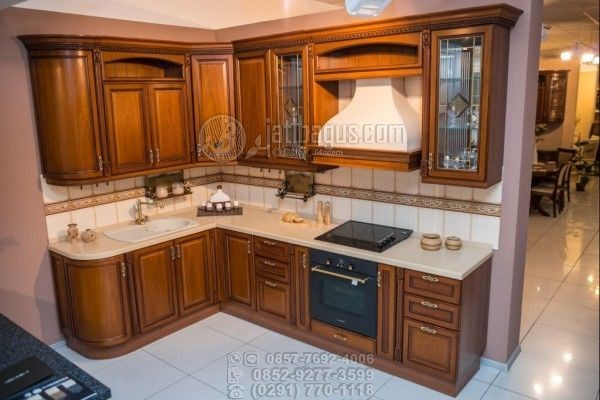 Kitchen Set Minimalis Kayu Solid Jati
